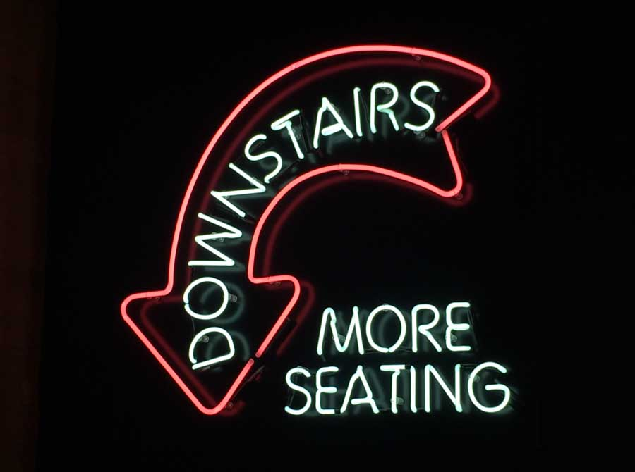 More Seating Downstairs Sign