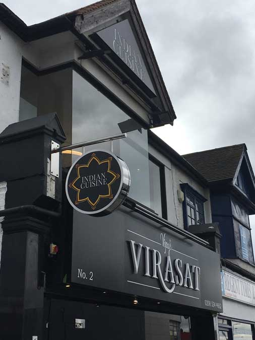 Virasat Restaurant Sign