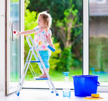 Clean french doors